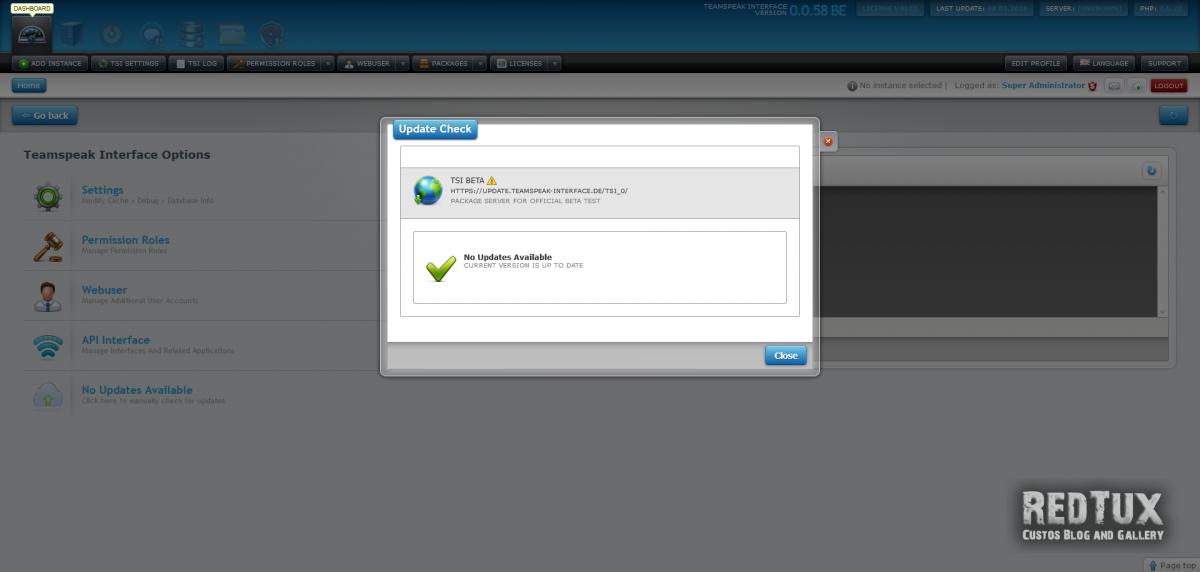Teamspeak Interface Auto Update Service