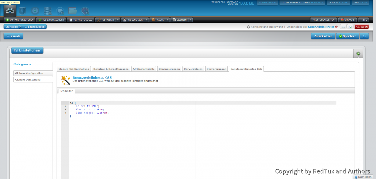 Teamspeak Interface Custom CSS